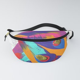 Dreaming Wild Sunsets Abstract Fantasy Woman Collage Fanny Pack