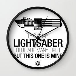 This is my Lightsaber (Vader Version) Wall Clock