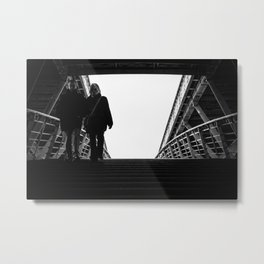 Leaving the lights Metal Print