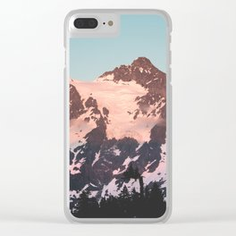 Pink Cascade Mountain Clear iPhone Case