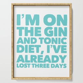 Gin and Tonic Diet Serving Tray