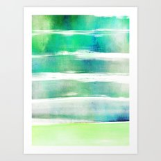 waves - turquoise Art Print