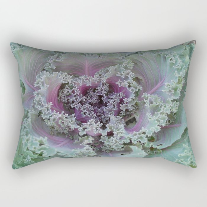 Cabbage Fractal Rectangular Pillow