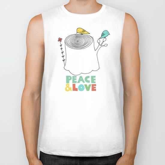 Peace & Love Biker Tank