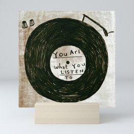 you are what you listen to, GRUNGE Mini Art Print