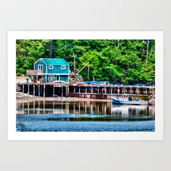 Lobster Dock Art Print