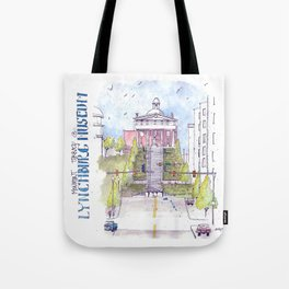 Monument Terrace at the Lynchburg Museum Tote Bag