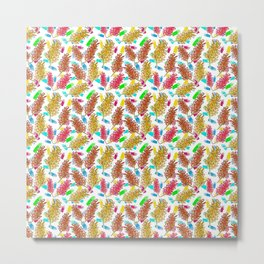 Bright Australian Native Florals on lovely colourful background Metal Print
