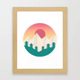 Nature artwork with gradient sunset Framed Art Print