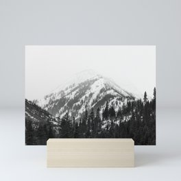 Fading Mountain Winter - Snow Capped Nature Photography Mini Art Print