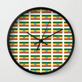 flag of Ethiopia 2-ኢትዮጵያ, የኢትዮጵያ ,Amharic,  Ethiopian, Addis Ababa. Wall Clock
