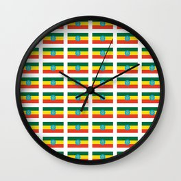 flag of Ethiopia 2-ኢትዮጵያ, የኢትዮጵያ ,Amharic,  Ethiopian, Addis Ababa. Wall Clock