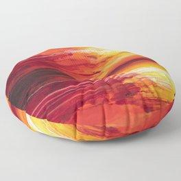 Abstract Sunset Floor Pillow