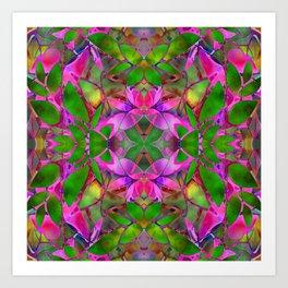 Floral Fractal Art G374 Art Print