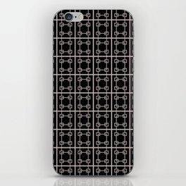 Squares BLK/WHT iPhone Skin