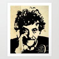 vonnegut Art Prints featuring Vonnegut print 2 by Nick Wesley