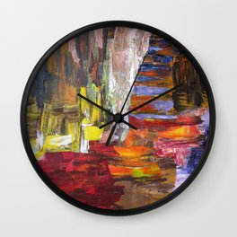 Mountain river bright image Wall Clock