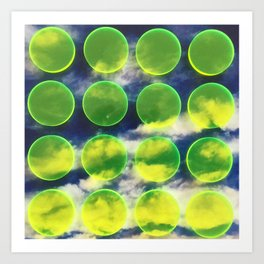 yellow polka dots sky Art Print