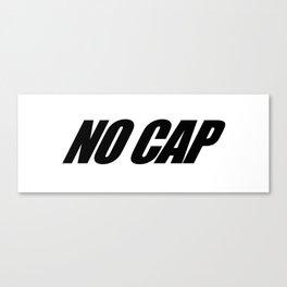NO CAP Black Minimal Canvas Print