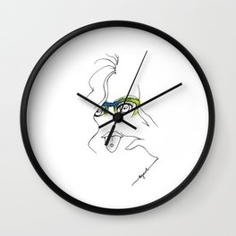 Fashion: Hipster glasses Wall Clock