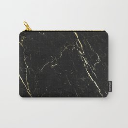 Black gold marble Carry-All Pouch