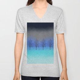 Abstract trees Unisex V-Neck