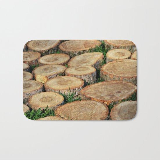 Stumps. Wood mosaic Bath Mat