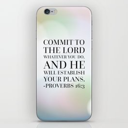 Proverbs 16:3 Bible Quote iPhone Skin