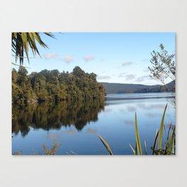 Morning skies over lake Canvas Print
