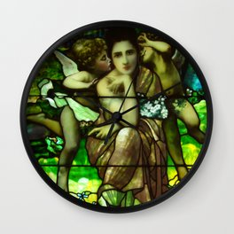 Louis Comfort Tiffany - Decorative stained glass 1. Wall Clock