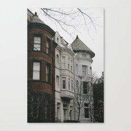 Georgetown Townhouses Canvas Print