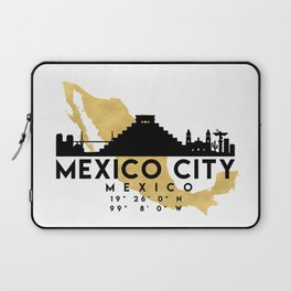 MEXICO CITY MEXICO SILHOUETTE SKYLINE MAP ART Laptop Sleeve