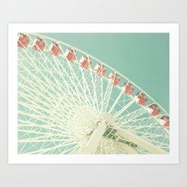 Huge Ferris Wheel Art Print