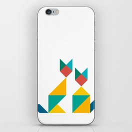 Tangram Cats 1 iPhone Skin