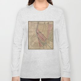 Vintage Map of New Orleans LA (1861) Long Sleeve T-shirt