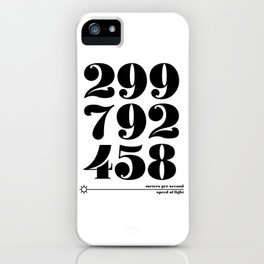 Speed of Light iPhone Case