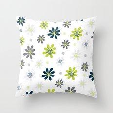 Simple Multi Flower Throw Pillow