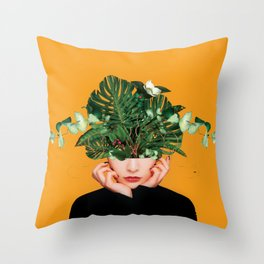 Lady Flowers || Throw Pillow