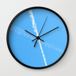 Contrails in the Blue Wall Clock