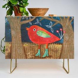 Red Bird in Galoshes Credenza