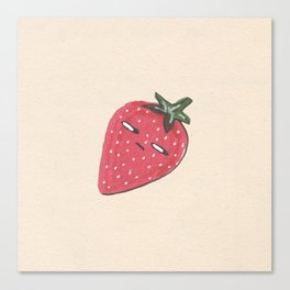 Suspicious Strawberry  Canvas Print