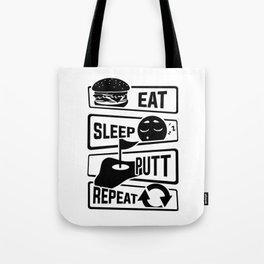 Eat Sleep Putt Repeat - Golf Ball Course Fairway Tote Bag