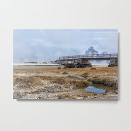 Fog on Good Harbor Beach Metal Print