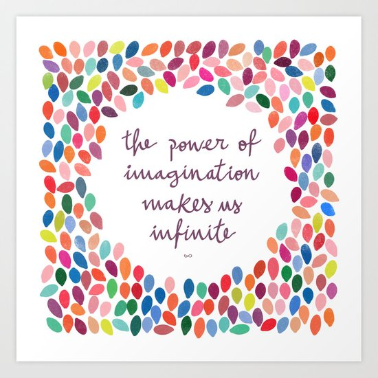 Imagination [Collaboration with Garima Dhawan] Art Print