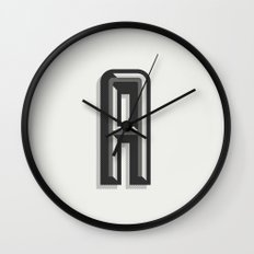 Letter A Wall Clock