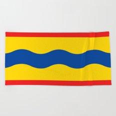 Flag of Overijssel Beach Towel