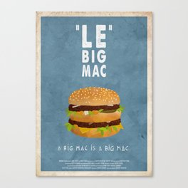 PULP FICTION - le big mac Canvas Print