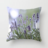 lavender Throw Pillows featuring lavender by Artemio Studio