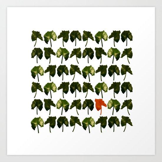 Red Leave Art Print