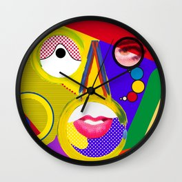 Color portrait Wall Clock